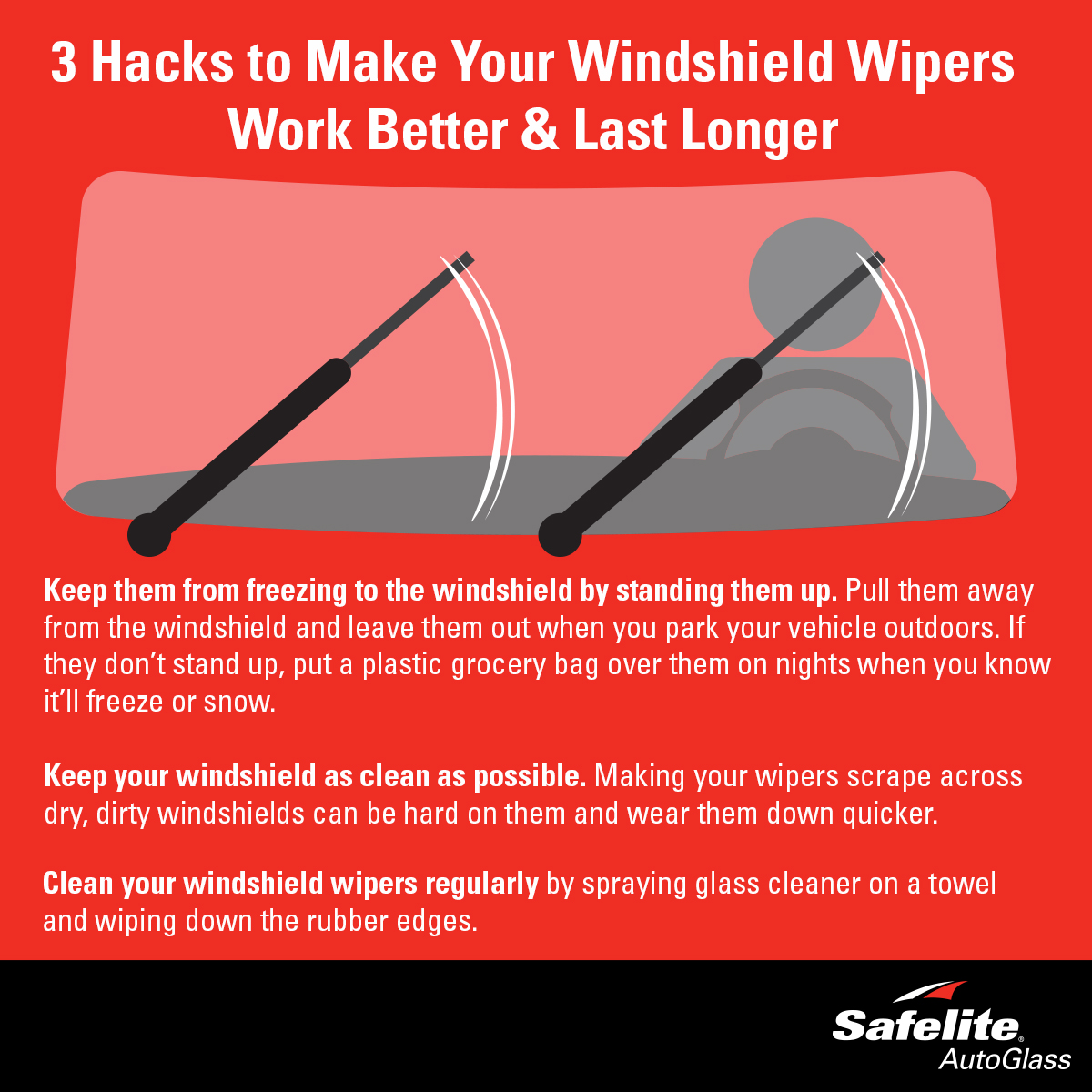 These three tips should help you to care for your windshield wipers.
