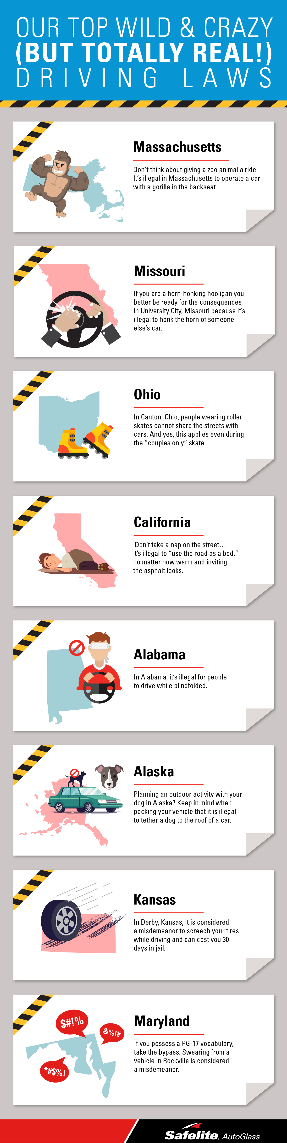 Though April Fool's Day did just pass, we're not joking around! These are some of the most interesting driving laws.