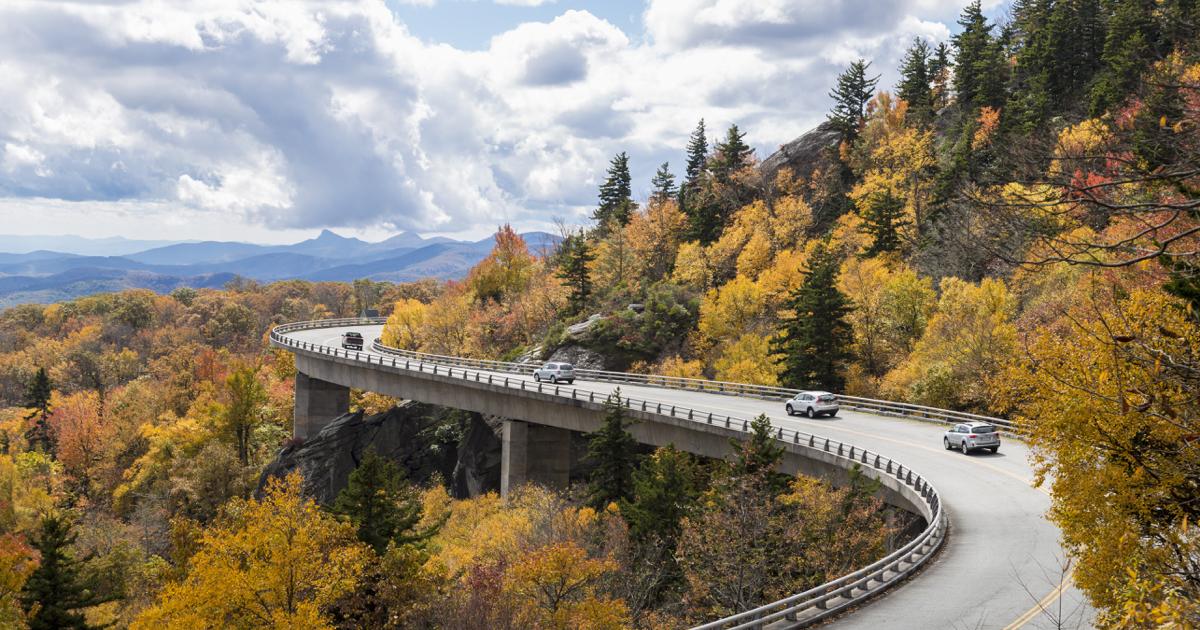 Autumn Scenic Driving Route