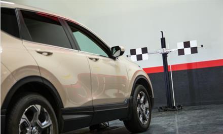 testing vehicle forward collision warning camera